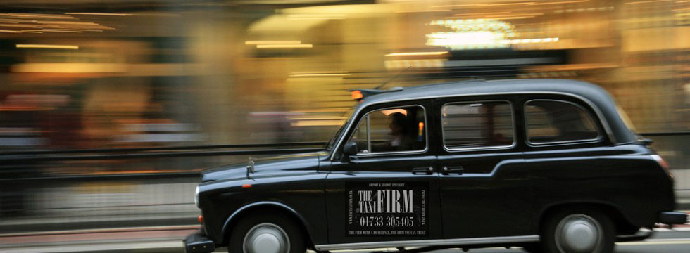 The Taxi Firm London cab rushing